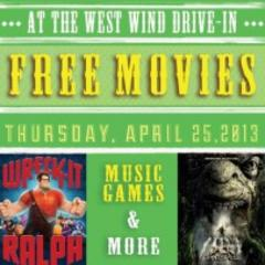 Free Customer Appreciation Day Movies at West Wind Drive-in April 25